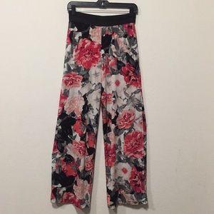 Alfani Floral wide Leg Pants-XS
